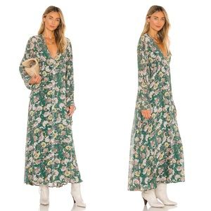 Free People Earthfolk Floral Peasant Maxi Dress XS